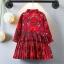 ชุดกระโปรงพรีทสีแดง ลายดอกไม้ thumbnail 6