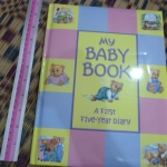 My Baby Book: A First Five Year Diary ปกนวม