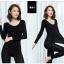 ลองจอน ฮีทเทค กันหนาว Long Johns Heattech ผู้หญิง สีดำ (เสื้อ+กางเกง) thumbnail 1