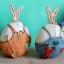 ตุ๊กตากระต่ายใส่เอี๊ยมสีฟ้า thumbnail 3