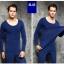 ลองจอน ฮีทเทค กันหนาว Long Johns Heattech ผู้ชาย สีน้ำเงิน (เสื้อ+กางเกง) thumbnail 1