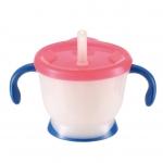 Richell แก้วหลอดหัดดูด AQ Cup de Mug (Blue-Red) ราคา 525 บาท ส่งฟรี