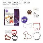 Wilton Pet 4 PC Colored Theme Set (2308-0910)