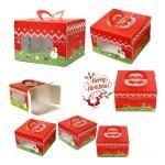 BOX CAKE LEISURE TIME - กล่อง Chirsmasพื้นแดง 8นิ้ว