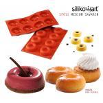 Silikomart พิมพ์ซิลิโคน SF011 MEDIUM SAVARIN (8ช่อง)