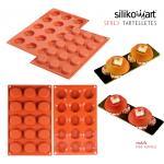 Silikomart พิมพ์ซิลิโคน SF013 TARTELLETES (15 ช่อง /4.5 cm)