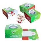 กล่องเค้ก Christmas สีเขียว มีหูหิ้ว 8 นิ้ว