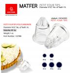 Matfer PF16 PETIT FOUR TIPS POLYCARBONATE (167086)