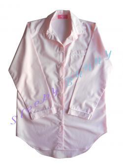 ขายแล้วค่ะ ds66 ชุดนอนเดรสเชิ้ตสีชมพูอ่อนโทนพาสเทล พร้อมส่ง Size S,M --> Pajamazz