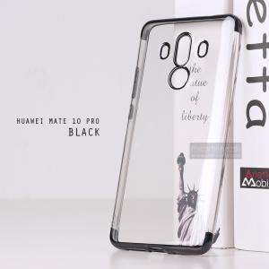 เคส Huawei Mate 10 Pro เคสนิ่ม SLIM TPU สีใส ขอบเงา ( สีดำ ) เสริมขอบนูนกันกล้อง