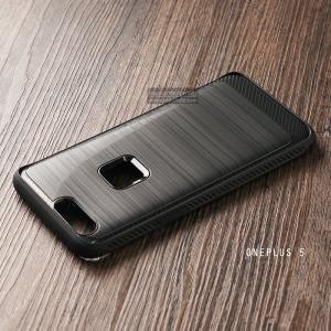 เคส Oneplus 5 เคส Hybrid + ขอบกันกระแทก ลดรอยนิ้วมือบนเคส สีดำ (BLACK BUMPER)