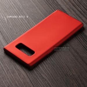 เคส Samsung Galaxy Note 8 เคสนิ่ม TPU สีเรียบ สีแดง