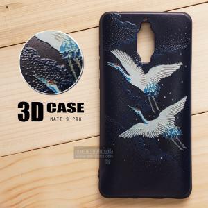 เคส Huawei Mate 9 Pro เคสนิ่ม TPU พิมพ์ลาย 3D (ขอบดำ) แบบที่ 4