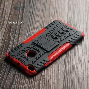 เคส Xiaomi MI MAX 2 เคสบั๊มเปอร์ กันกระแทก Defender (พร้อมขาตั้ง) สีแดง