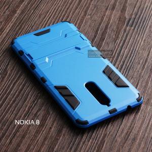 เคส Nokia 8 เคสขอบกันกระแทก Defender (พร้อมขาตั้ง) สีดำ - น้ำเงิน
