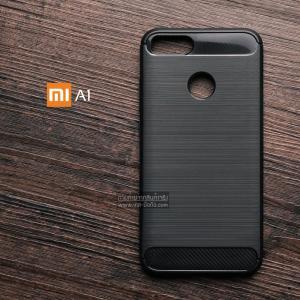 เคส Xiaomi Mi A1 เคสนิ่มเกรดพรีเมี่ยม (Texture ลายโลหะขัด) กันลื่น ลดรอยนิ้วมือ สีดำ