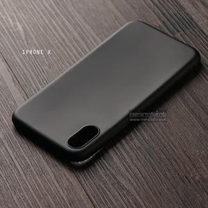 เคส iPhone X เคสนิ่ม TPU สีเรียบ สีดำ