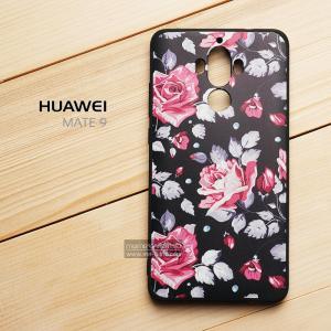 เคส Huawei Mate 9 เคสนิ่ม TPU พิมพ์ลาย (ขอบดำ) แบบที่ 5