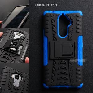 เคส Lenovo K8 Note เคสบั๊มเปอร์ กันกระแทก Defender (พร้อมขาตั้ง) สีน้ำเงิน