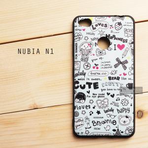 เคส ZTE Nubia N1 เคสนิ่ม TPU พิมพ์ลาย (ขอบดำ) แบบที่ 6 (พร้อม สายคล้องโทรศัพท์)