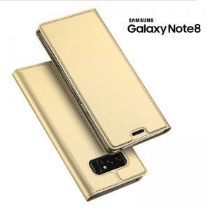 เคส Samsung Galaxy Note 8 เคสฝาพับเกรดพรีเมี่ยม เย็บขอบ พับเป็นขาตั้งได้ สีทอง (Dux Ducis)