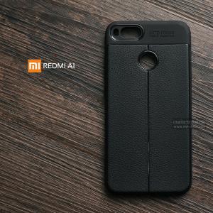เคส Xiaomi Mi A1 เคสนิ่ม Hybrid เกรดพรีเมี่ยม ลายหนัง (ขอบนูนกันกล้อง)