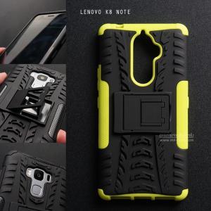 เคส Lenovo K8 Note เคสบั๊มเปอร์ กันกระแทก Defender (พร้อมขาตั้ง) สีเขียว