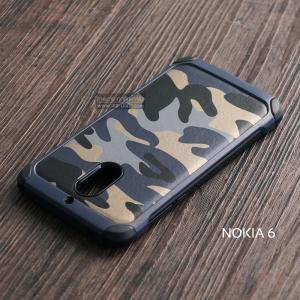 เคส Nokia 6 กรอบบั๊มเปอร์ กันกระแทก Defender ลายทหาร (Camouflage Series) สีน้ำเงิน