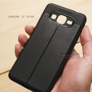 เคส Samsung Galaxy J2 Prime เคสนิ่ม Hybrid เกรดพรีเมี่ยม ลายหนัง (ขอบนูนกันกล้อง) แบบที่ 2 (มีเส้นตรงกลาง)