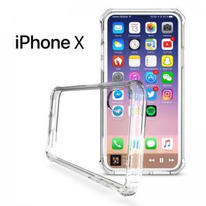 เคส iPhone X เคส Hybrid ฝาหลังอะคริลิคใส ขอบยางกันกระแทก สีใส
