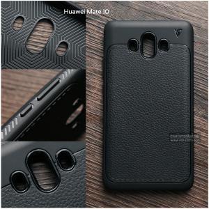เคส Huawei Mate 10 เคสนิ่ม Hybrid เกรดพรีเมี่ยม ลายหนัง (ขอบนูนกันกล้อง)