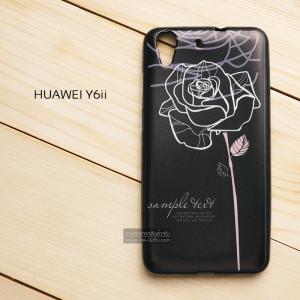 เคส Huawei Y6II เคสนิ่มพิมพ์ลาย (ขอบดำ) แบบที่ 4