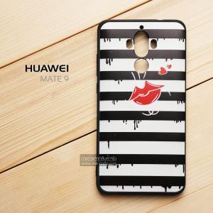 เคส Huawei Mate 9 เคสนิ่ม TPU พิมพ์ลาย (ขอบดำ) แบบที่ 2