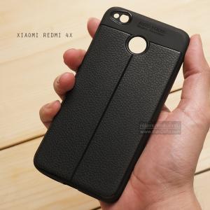 เคส Xiaomi Redmi 4X เคสนิ่ม Hybrid เกรดพรีเมี่ยม ลายหนัง (ขอบนูนกันกล้อง) แบบที่ 2 (มีเส้นตรงกลาง)