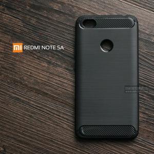 เคส Xiaomi Redmi Note 5A เคสนิ่มเกรดพรีเมี่ยม (Texture ลายโลหะขัด) กันลื่น ลดรอยนิ้วมือ สีดำ
