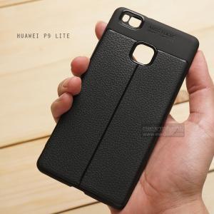 เคส Huawei P9 Lite เคสนิ่ม Hybrid เกรดพรีเมี่ยม ลายหนัง (ขอบนูนกันกล้อง) แบบที่ 2 (มีเส้นตรงกลาง)