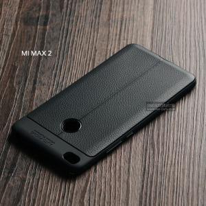 เคส Xiaomi Mi Max 2 เคสนิ่ม Hybrid เกรดพรีเมี่ยม ลายหนัง (ขอบนูนกันกล้อง)