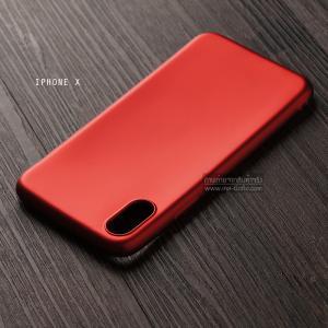 เคส iPhone X เคสนิ่ม TPU สีเรียบ สีแดง