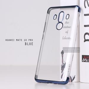 เคส Huawei Mate 10 Pro เคสนิ่ม SLIM TPU สีใส ขอบเงา ( สีน้ำเงิน ) เสริมขอบนูนกันกล้อง