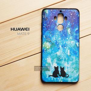 เคส Huawei Mate 9 เคสนิ่ม TPU พิมพ์ลาย (ขอบดำ) แบบที่ 1