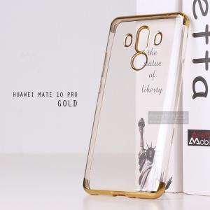 เคส Huawei Mate 10 Pro เคสนิ่ม SLIM TPU สีใส ขอบเงา ( สีทอง ) เสริมขอบนูนกันกล้อง