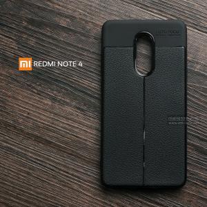 เคส Xiaomi Redmi Note 4 เคสนิ่ม Hybrid เกรดพรีเมี่ยม ลายหนัง (ขอบนูนกันกล้อง)