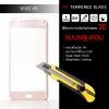 (*ใช้ได้เฉพาะรุ่น Vivo V5 และ V5s) (มีกรอบ 3D แบบคลุมขอบ) ฟิล์มกระจกนิรภัย-กันรอย ( Vivo V5 ) Tempered Glass 9H ขอบมน 2.5D สีโรสโกลด์