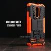 เคส Lenovo K6 Power เคสบั๊มเปอร์ กันกระแทก Defender (พร้อมขาตั้ง) สีส้ม