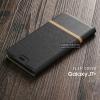 เคส Samsung Galaxy J7 Plus เคสฝาพับหนัง PVC มีช่องใส่บัตร สีดำ