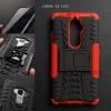 เคส Lenovo K8 Plus เคสบั๊มเปอร์ กันกระแทก Defender (พร้อมขาตั้ง) สีแดง