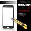 (*ใช้ได้เฉพาะรุ่น Vivo V5 และ V5s) (มีกรอบ 3D แบบคลุมขอบ) ฟิล์มกระจกนิรภัย-กันรอย ( Vivo V5 ) Tempered Glass 9H ขอบมน 2.5D สีดำ