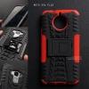 เคส Moto G5s Plus เคสบั๊มเปอร์ กันกระแทก Defender (พร้อมขาตั้ง) สีแดง