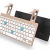 คีย์บอร์ดบูลทูธ สำหรับ Tablet มือถือทุกรุ่น ใช้ได้ 2 เครื่องพร้อมกัน พร้อมขาตั้งในตัว