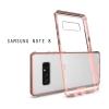 เคส Samsung Galaxy Note 8 เคส Hybrid ฝาหลังอะคริลิคใส ขอบยางกันกระแทก สี Old rose